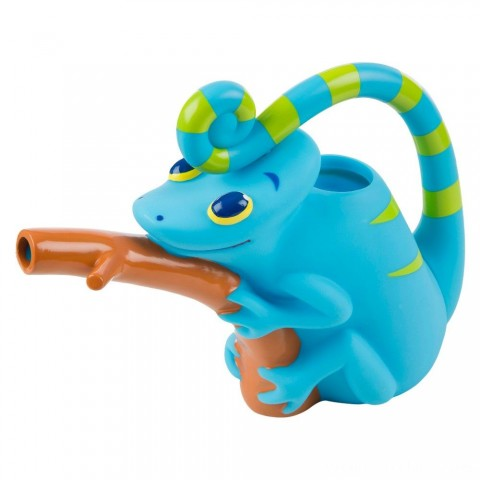 Melissa & Doug Sunny Patch Camo Chameleon Watering Can With Tail Handle and Branch-Shaped Spout Free Shipping