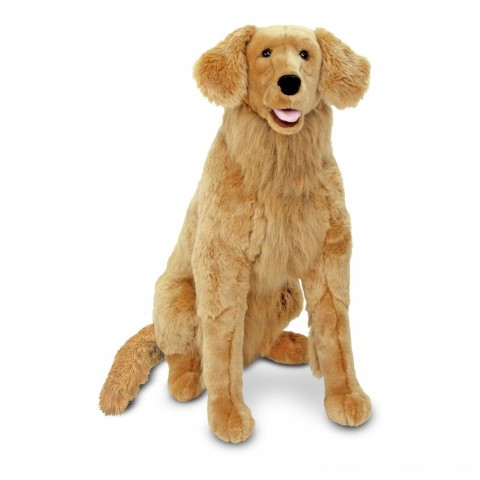 Melissa & Doug Giant Golden Retriever - Lifelike Stuffed Animal Dog (over 2 feet tall) Free Shipping
