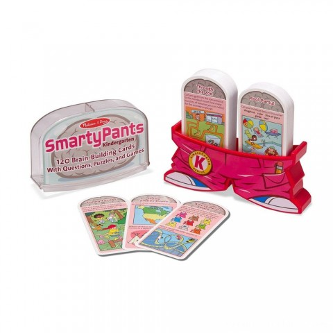 Melissa & Doug Smarty Pants Kindergarten Card Set - 120 Educational, Brain-Building Questions, Puzzles, and Games, Kids Unisex Free Shipping