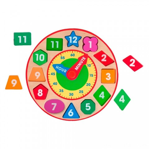 Melissa & Doug Shape Sorting Clock - Wooden Educational Toy Free Shipping