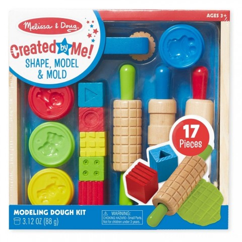 Melissa & Doug Shape, Model, and Mold Clay Activity Set - 4 Tubs of Modeling Dough and Tools Free Shipping