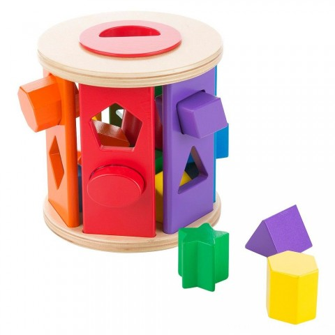 Melissa & Doug Match and Roll Shape Sorter - Classic Wooden Toy Free Shipping
