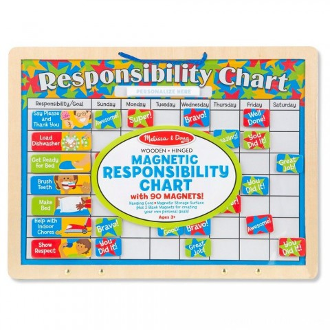 Melissa & Doug Magnetic Responsibility Chart Free Shipping