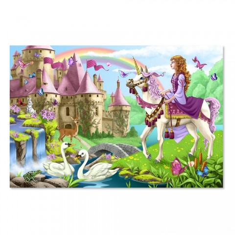 Melissa And Doug Fairy Tale Castle Jumbo Floor Puzzle 24pc Free Shipping