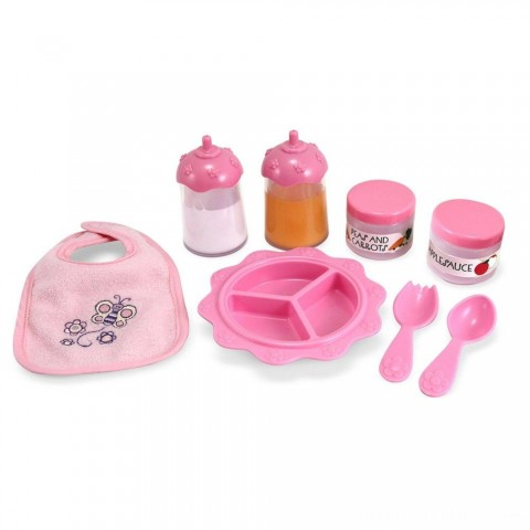 Melissa & Doug Mine to Love Time to Eat Doll 8 pc Accessories Feeding Set Free Shipping