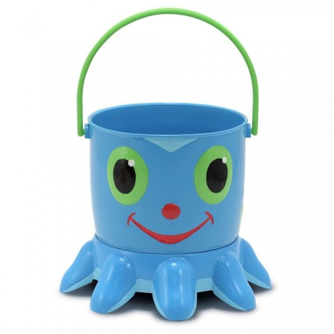 Melissa & Doug Sunny Patch Flex Octopus Sand Pail and Sifter Free Shipping