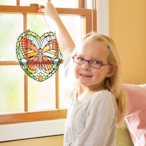 Melissa & Doug Stained Glass Made Easy Activity Kit: Butterfly - 140+ Stickers Free Shipping