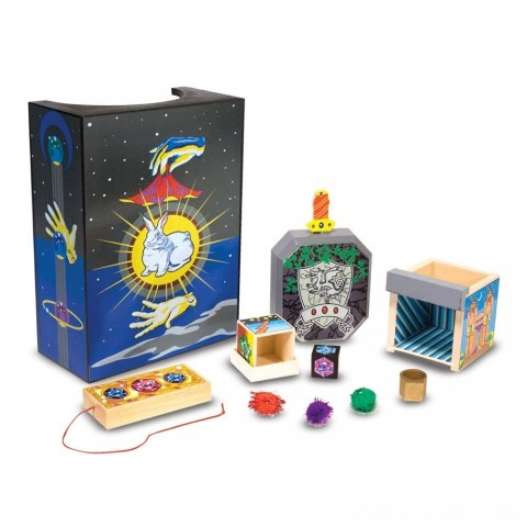 Melissa & Doug Discovery Magic Set With 4 Classic Tricks, Solid-Wood Construction Free Shipping