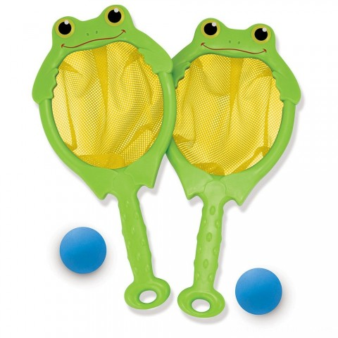 Melissa & Doug Sunny Patch Froggy Toss and Catch Net Game With 2 Balls Free Shipping