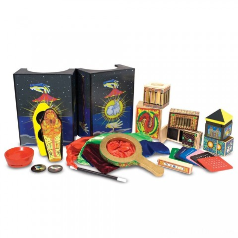 Melissa & Doug Deluxe Solid-Wood Magic Set With 10 Classic Tricks Free Shipping