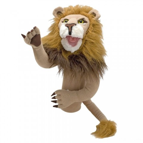Melissa & Doug Rory the Lion Puppet With Detachable Wooden Rod for Animated Gestures Free Shipping