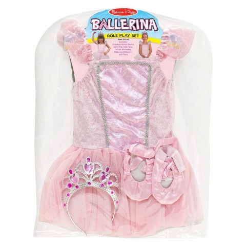 Melissa & Doug Ballerina Role Play Costume Set (4pc) - Includes Ballet Slippers, Tutu, Women's, Size: Small, Pink Free Shipping