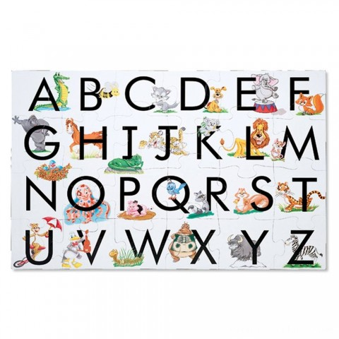 Melissa And Doug Learn The Alphabet Floor Puzzle 24pc Free Shipping